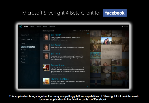 Facebook Silverlight